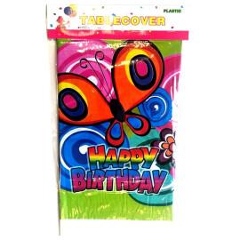 Парти покривка Happy Birthday пеперуди