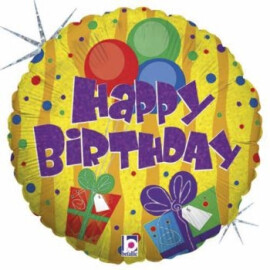 Балон Happy Birthday с балони и подаръци