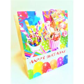 Подаръчна торбичка - Happy birthday