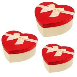 Подаръчна кутия сърце релефна