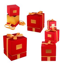 Луксозна подаръчна кутия със сатенена лента