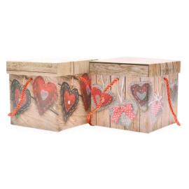 Подаръчна кутия -  сърца  25см.