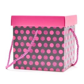 Подаръчна кутия розови точки