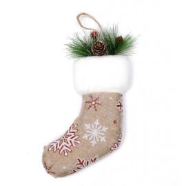 Коледно чорапче - шишарки