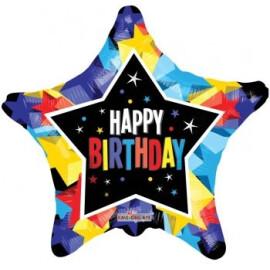Балон Happy Birthday звезда