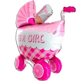 Балон Бебешка количка за момиче