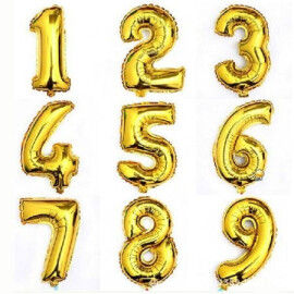 Фолийни балони цифри малки златни
