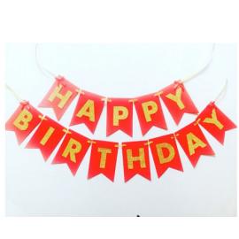 Парти украса Happy Birthday - червен