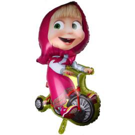 Фолиев балон Маша с колело