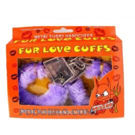 Комплект любовни белезници със зарчета - лилави