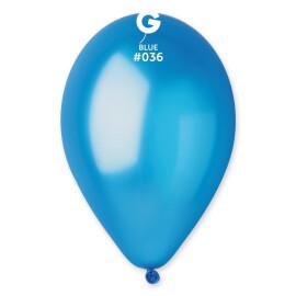 Балони металик 28 см.- сини #036 - GM110