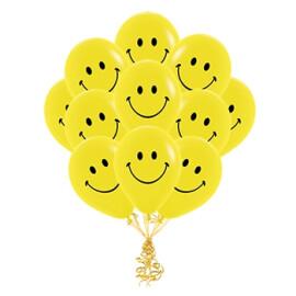 Парти балони усмивка  жълти