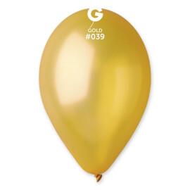 Балони металик 28 см.- златни  #039 - GM110