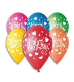 Балони - Happy Birthday  на сърца