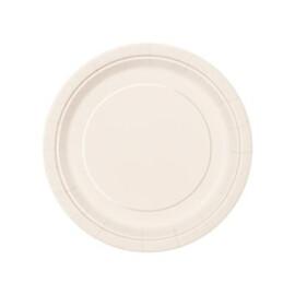 Едноцветни парти чинии - екрю