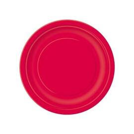 Едноцветни парти чинии - червени
