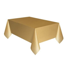 Едноцветна парти покривка - златна