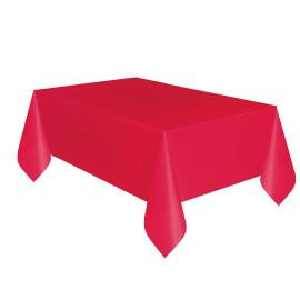 Едноцветна парти покривка - червена