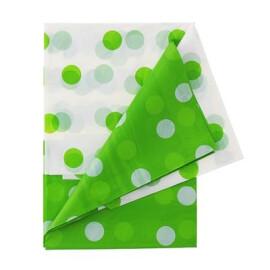 Парти покривка на точки - зелена