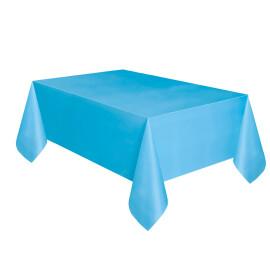 Едноцветна парти покривка - светло синя