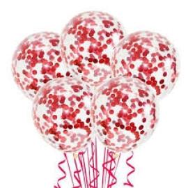 Балони с конфети червени