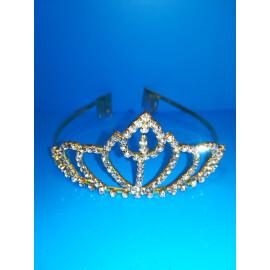 Луксозна корона с кристали - златна