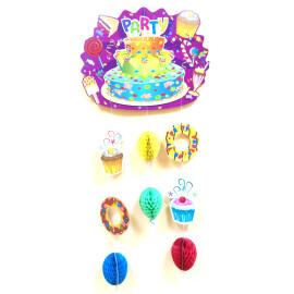 Парти украса с тортичка