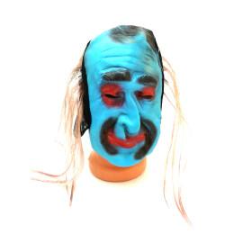 Страшна маска - синьо лице