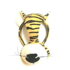 Маска - диадема на тигър плюш