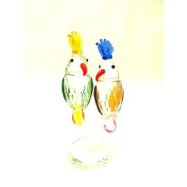Стъклена фигурка Папагали