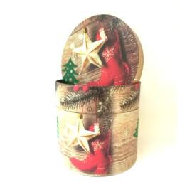 Подаръчна кутия кръгла с ботуш