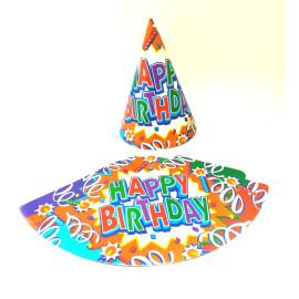 Парти шапка - Happy Birthday - 16 см.