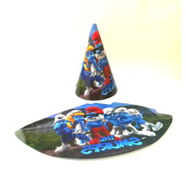 Парти шапка Смърфове - 16 см.