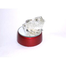 Съклена фигурка - жабка