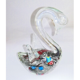 Стъклена фигурка Лебед