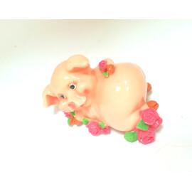 Касичка - прасенце с рози