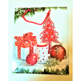 Подаръчна торбичка с Коледни мотиви - 44см.
