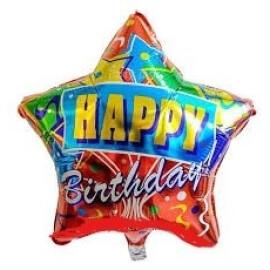 Балон звезда Happy birthday