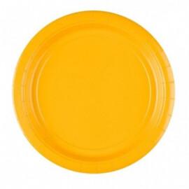 Едноцветни парти чинии - жълти