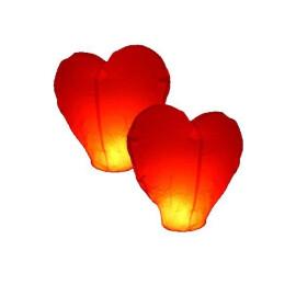 Летящ фенер сърце
