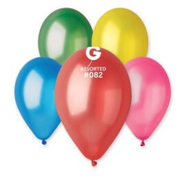 Балони металик 28 см.- асорти #082 - GM110