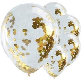 Балони с конфети златни
