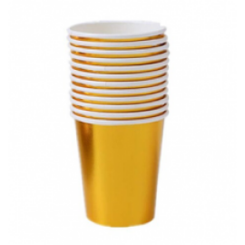 Парти чаши металик златни