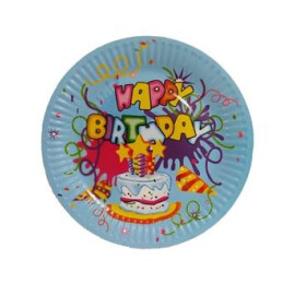 Парти чинии Happy Birthday