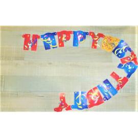 Гирлянд Happy Birthday  с конфети