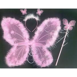 Комплект пеперуда - розова
