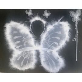 Комплект пеперуда - бяла