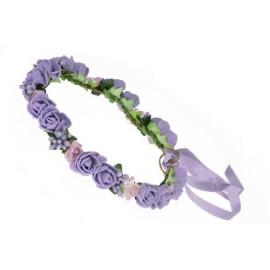 Венче с розички в лилаво