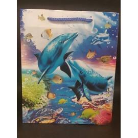 Подаръчна торбичка делфини