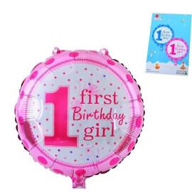 Балон First Birthday Gir